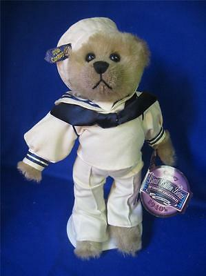 "Brass Button Bear CASEY 1999 12"" Hang Tag 20th Century Collectibles Navy clothes"