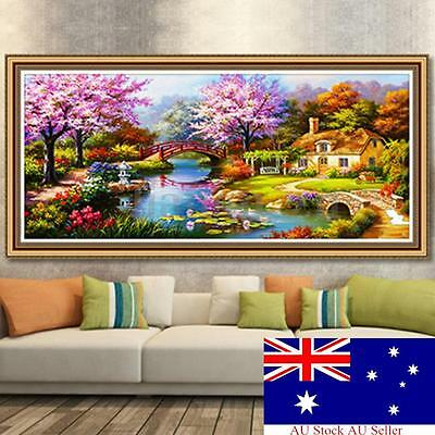 DIY 5D Diamond Painting Countryside Embroidery Cross Stitch Craft Kit Home Decor