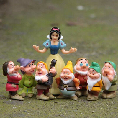 Collection Snow White And The Seven Dwarfs Toy Figure Figurine Cake Topper Set