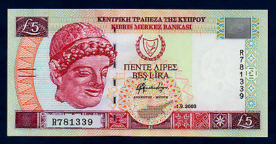 Cyprus Banknote 5 Pounds 2003  UNC