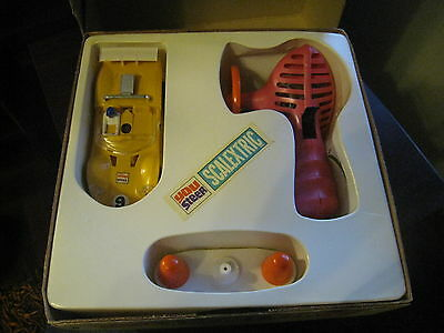 Vintage Scalextric Javelin Slot You Steer Car Made In England In Box By Tri-Ang