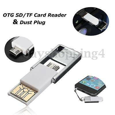 Micro USB 2.0 OTG Adapter + Micro SD TF Card Reader Support For Android/Laptop
