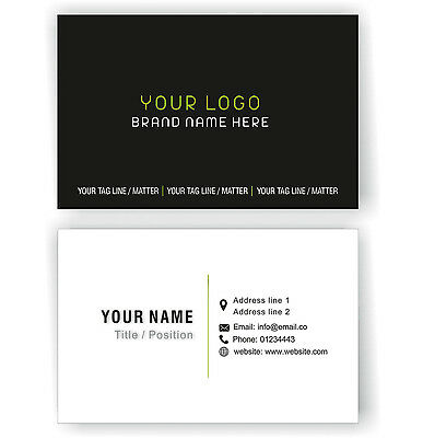 100 Personalised Business Cards Custom Employees Visiting Card-Front and Back