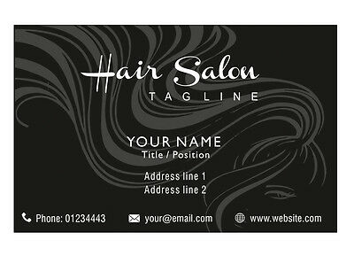 100 Personalised Business Cards Custom Professional Visiting Card Black-Front