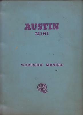 Austin Mini Mk1 850 Saloon Countryman Van & Cooper 59-62 Factory Workshop Manual