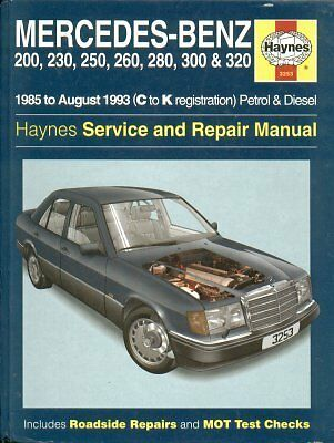 Mercedes-Benz W124 Saloon Coupe Estate ( 1985 - 1993 ) Owner Repair Manual *vgc*