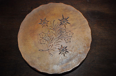 ANTIQUE BLACK FOREST MUSICAL WOODEN FRUIT BOWL HAND CARVED MADE IN swiss