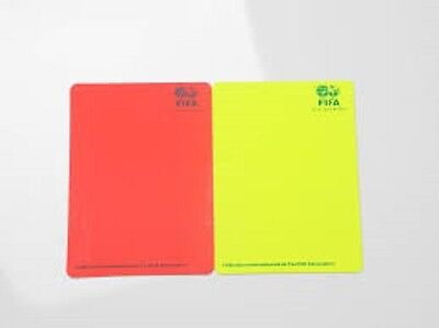 Pair Of Fifa Red Yellow Referee Cards