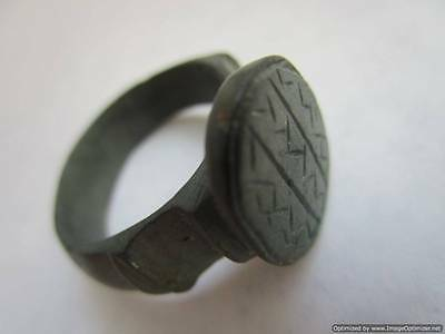 Byzantium, old rare massive bronze ring, found in the ground - 100% authentic!!!