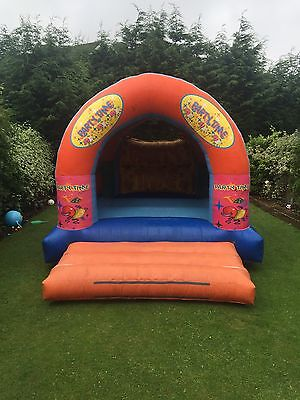Commercial Bouncy Castle - 15x12 Party Time Theme - Solid Unit