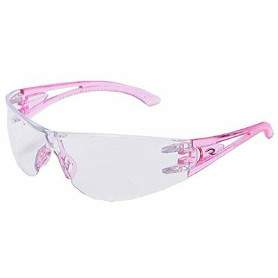 Optima Safety Glass Pink Temples Clear Lens Sold Per PAIR