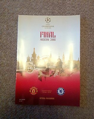 Champions League Final Programme Moscow 2008 Manchester United V Chelsea Officia