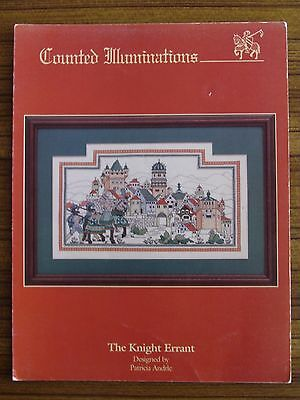 Cross Stitch Pattern Book - Counted Illuminations The Knight Errant Medieval