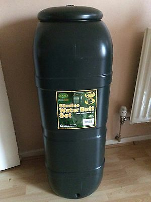 Slimline Water Butt 100ltr Capacity Kit includes Butt, Stand and Diverter