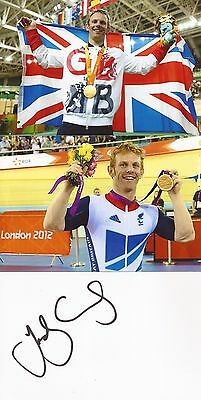 CYCLING: JODY CUNDY SIGNED 6x4 WHITECARD+2 UNSIGNED PHOTOS+COA