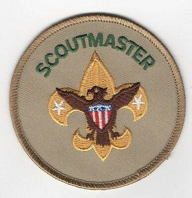 """Scoutmaster Position Patch w/ """"Since 1913"""" Backing, Mint!"""