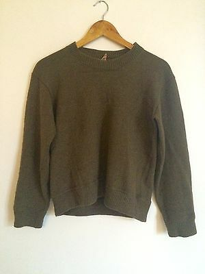 Vintage 1940s Military Army Jumper Pullover Small 34
