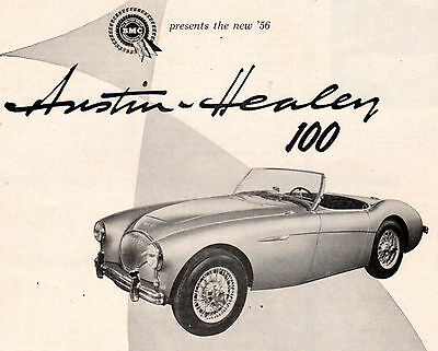 "Vintage Original 1956 Bmc Austin Healey 100 Magazine Advertisement- 8"" X 11"""