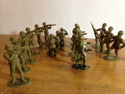 Toy Soldiers Reliable 60's Gas Mask Plastic Vintage Allies WW1 2 Painted Rare