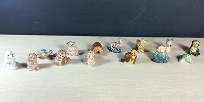 Wade Whimsies Animals 14 No Doubles Canada Figurines Vintage Red Rose