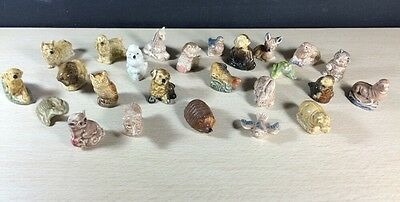 Wade Whimsies Animals 25 No Doubles Canada Figurines Vintage Red Rose