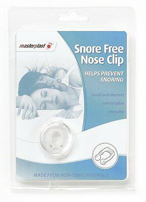MasterPlast Snore Free Reusable Nose Clip Non Toxic Anti Snoring Sleeping Aid