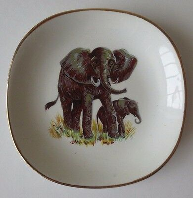 Vintage Elephant Plate Weatherby Hanley England Trinket Dish Falcon Ware