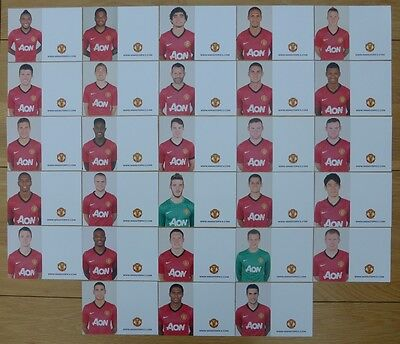 2012-13 Unsigned Man Utd Club Cards - Individually Priced
