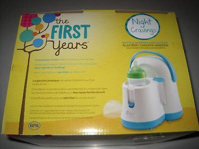 The First Years Night Cravings Bottle Warmer & Cooler, Blue/White OR Gray/ White