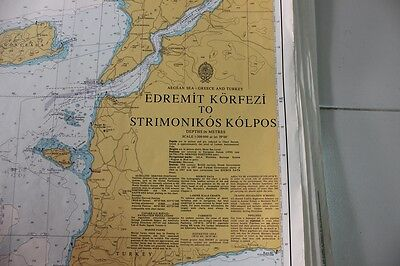 1086 Greece To Turkey Nautical Chart Map Navigation Rare Collectable