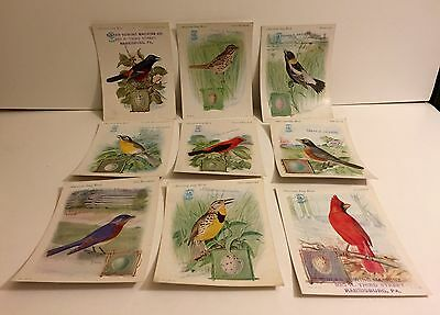 Singer Sewing Machine Product Promotional Bird Cards ~ Lot of Nine ~ 1920s