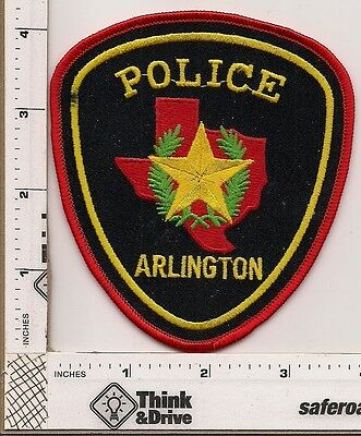 Arlington Police.Texas. Red thread edge.