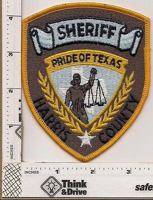Harris County Sheriff.Texas. Brown Background.