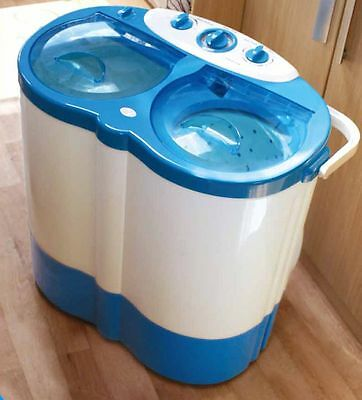 Streetwize Twin Tub Plastic Portable Washer - White and Blue -From Argos on ebay