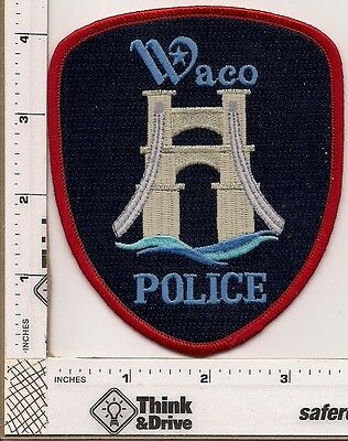 Waco Police. Bridge Center.Texas.