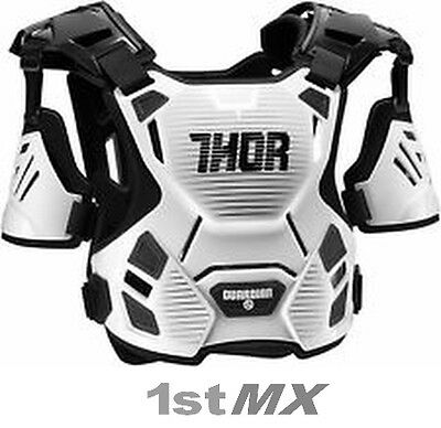 2017 Thor Guardian Motocross Chest Protector MX Kids Body Armour White