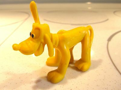 Vintage Pluto Walt Disney Productions Hong Kong  Yellow Plastic / Rubber Toy Dog