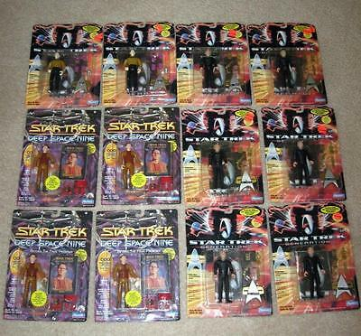 Box Lot of 12 STAR TREK ACTON FIGURES, Generations and Deep Space Nine, MOC!