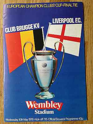 Official Programme Brugge V Liverpool European Final 10Th May 1978 Unread
