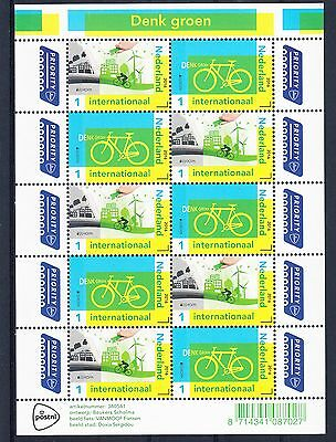 Bikes Cycling The Netherlands 2016 sheet MNH Intl Rate.