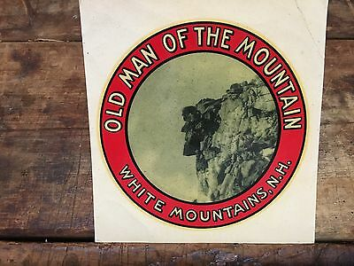 Vintage 1947 Old Man Of The Mountain Decal