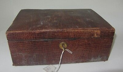 ANCIENNE BOITE A COUTURE BIJOUX SILK SEWING JEWELRY BOX in need of restoration