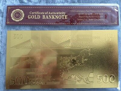 24k gold banknote