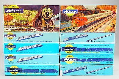 "HO Scale Lot of 10 - 7.5"" Athearn Trains Empty Blue Box Train Car Boxes"