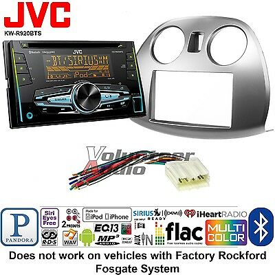 JVC Double Din CD Player Car Radio Install Mount Kit Harness Bluetooth USB AUX