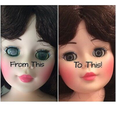 Kit To Replace Doll Sleep Eyes 15mm Brown Blue Fix Doll Eyes Choose Color