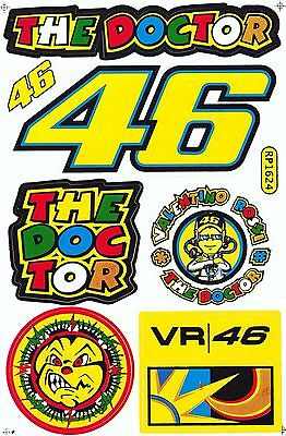 1 Sheet Thedoctor Valentino Rossi Motorcycle Atv Bike Racing Decal Sticker Sk155