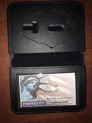 Fire Department Firefighter Perfect Fit Badge Wallet Style 100 Cut 496