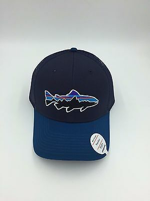 9a0744fc PATAGONIA Fitz Roy Trout Trucker Hat #38008 Mid-Crown Adjustable Snapback  Cap Clothing, Shoes & Accessories Men's Accessories
