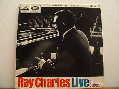Ray Charles - Live In Concert - 1965 England Lp Vinyl